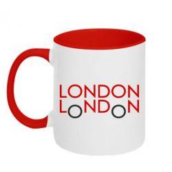 Кружка двухцветная London - FatLine