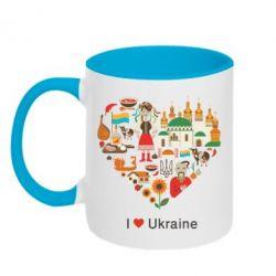 Кружка двухцветная Love Ukraine Hurt - FatLine