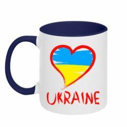 Кружка двухцветная Love Ukraine - FatLine