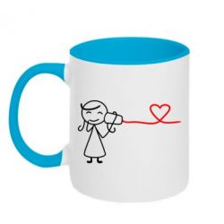 Кружка двухцветная Любовное послание 2 - FatLine