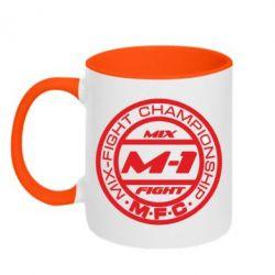 Кружка двухцветная M-1 Logo - FatLine