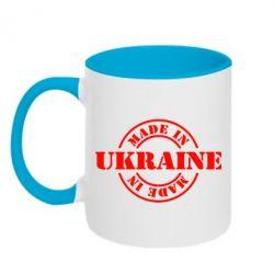 Кружка двухцветная Made in Ukraine - FatLine
