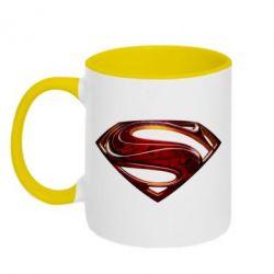 Кружка двухцветная Man of Steel - FatLine