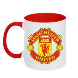 Кружка двухцветная Манчестер Юнайтед - FatLine