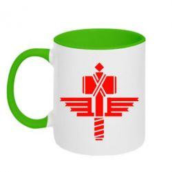 Кружка двухцветная Manowar Logo - FatLine