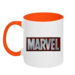 Кружка двухцветная Marvel 3D - FatLine