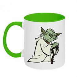 Кружка двухцветная Master Yoda - FatLine