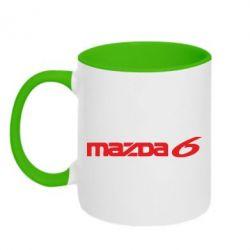 Кружка двухцветная Mazda 6 - FatLine