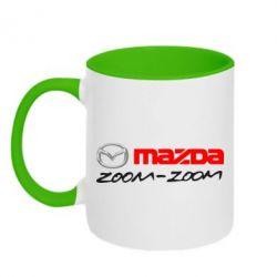 Кружка двухцветная Mazda Zoom-Zoom - FatLine