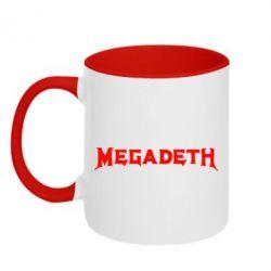 Кружка двухцветная Megadeth - FatLine