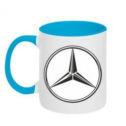 Кружка двухцветная Mercedes - FatLine