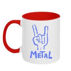 Кружка двухцветная Metal - FatLine