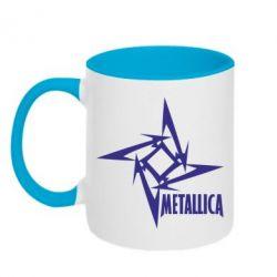 Кружка двухцветная Metallica Logotype - FatLine