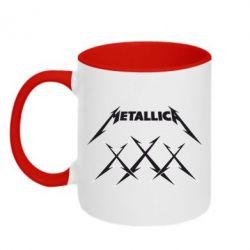 Кружка двухцветная Metallica XXX - FatLine