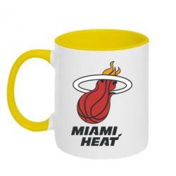 Кружка двухцветная Miami Heat - FatLine