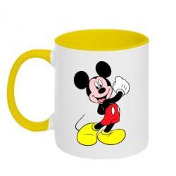Кружка двухцветная Микки Маус - FatLine