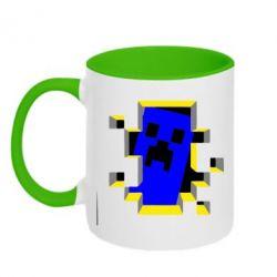 Кружка двухцветная Minecraft 3D - FatLine