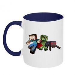 Кружка двухцветная Minecraft Company - FatLine
