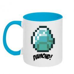 Кружка двухцветная Minecraft Diamond! - FatLine