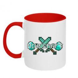 Кружка двухцветная Minecraft - FatLine