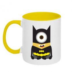 Кружка двухцветная Minion Batman - FatLine