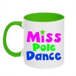 Кружка двухцветная Miss Pole Dance - FatLine