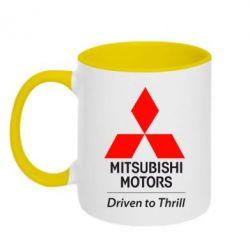 Кружка двухцветная Mitsubishi Motors - FatLine
