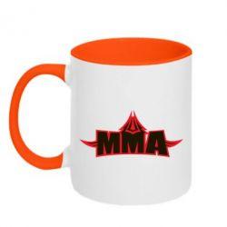 Кружка двухцветная MMA Pattern - FatLine