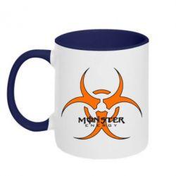 Кружка двухцветная Monster Energy Biohazard - FatLine