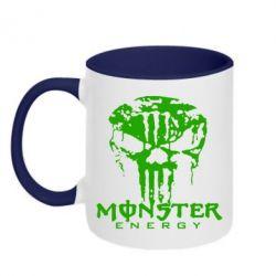 Кружка двухцветная Monster Energy Череп - FatLine