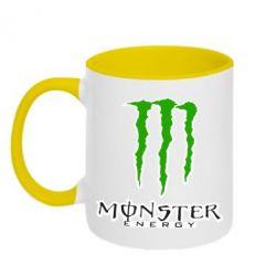 Кружка двухцветная Monster Energy Logo - FatLine