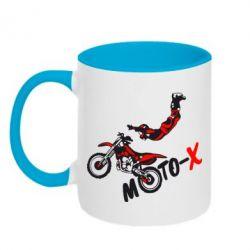 Кружка двухцветная Moto-X - FatLine