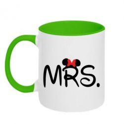 Кружка двухцветная Mrs. - FatLine