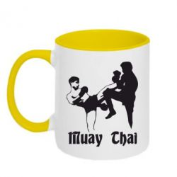 Кружка двухцветная Muay Thai Fighters - FatLine