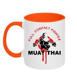 Кружка двухцветная Muay Thai Full Contact - FatLine