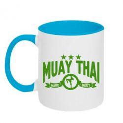Кружка двухцветная Muay Thai Hard Body - FatLine