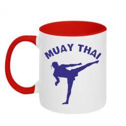 Кружка двухцветная Muay Thai - FatLine