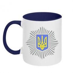 Кружка двухцветная МВС України - FatLine