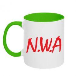 Кружка двухцветная N.W.A Logo - FatLine