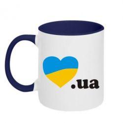 Кружка двухцветная Народився в Україні - FatLine