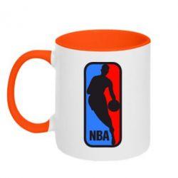 Кружка двухцветная NBA - FatLine