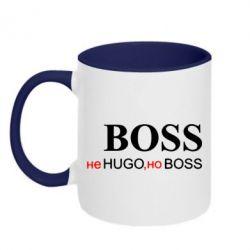 Кружка двухцветная Не Hugo, но Boss - FatLine