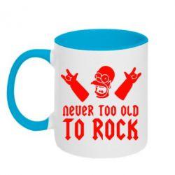 Кружка двухцветная Never old to rock (Gomer) - FatLine