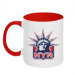 Кружка двухцветная New York Rangers - FatLine