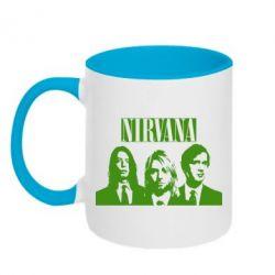 Кружка двухцветная Nirvana (Нирвана) - FatLine
