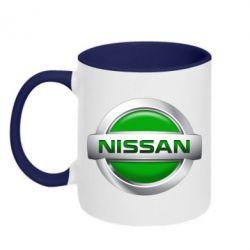 Кружка двухцветная Nissan Green - FatLine