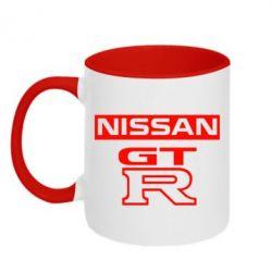 Кружка двухцветная Nissan GT-R - FatLine