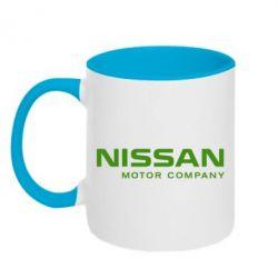 Кружка двухцветная Nissan Motor Company - FatLine