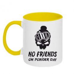 Кружка двухцветная No friends on powder day - FatLine