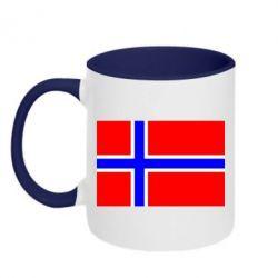 Кружка двухцветная Норвегия - FatLine